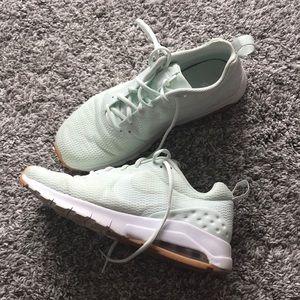 Mint green Nike Air shoes